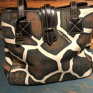 Dooney & Bourke Giraffe Print Shoulder Handbag